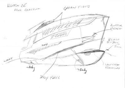 Semi-Planing Hull Concept